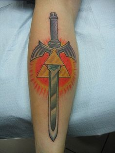 Triforce and master sword :)