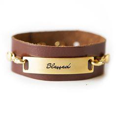 Blessed Bracelet - Dark Chestnut / Gold