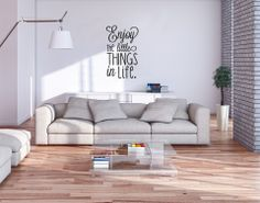 Enjoy little things in life Vinyl Decor, Interior Decorating, Interior Design, Vinyl Wallpaper, Cozy Room, Loft Spaces, Interior And Exterior, Home Furniture, Home Goods