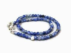 Dainty Sodalite & Sterling Silver Bracelet
