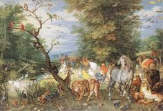 The Animals Entering the Ark 1615 Oil on copper, 25,5 x 37 cm Wellington Museum, Apsley House, London