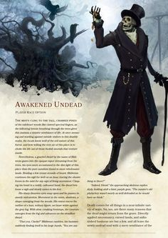Tabletop Gaming Resources — dnd-5e-homebrew: Awakened Undead Race by...