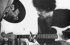 Taj Mahal and Jimi Hendrix, 1969