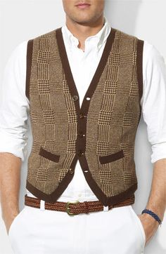 Cashmere-blend vest in menswear brown, Polo Ralph Lauren