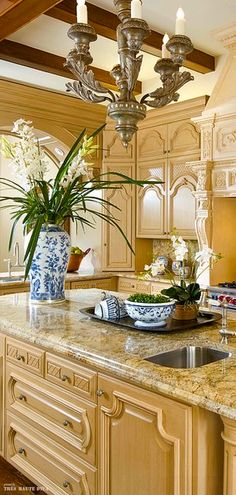 Classic French kitchen | Martin Bros. Contracting, Inc.