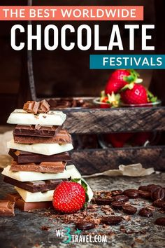 If you love chocolate, you may want to plan a trip to one of these chocolate festivals around the world. Taste all kinds of chocolate, learn how chocolate is made, meet cacao farmers, try chocolate pairings, and enjoy fun chocolate cooking classes and workshops to recreate chocolate recipes at home. Big Chocolate, Chocolate Delight, Death By Chocolate, Artisan Chocolate, How To Make Chocolate, Chocolate Lovers, Chocolate Recipes, Chocolate Festival, Festivals Around The World
