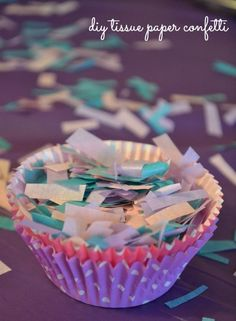 diy tissue paper party confetti, a perfect addition to any party or celebration. Tissue paper confetti is perfect for floating and you can vacuum it right up.