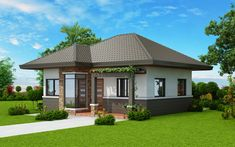 Basic 3 Bedroom House Plans Inspirational Two Bedroom Small House Plan Cool House Concepts Two Bedroom House Design, Three Bedroom House Plan, Bungalow House Design, Small House Design, Bungalow Floor Plans, Modern Bungalow House, Bungalow Exterior, Model House Plan, Small House Plans