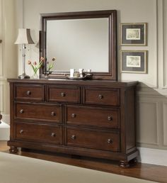 Reflect Dark Cherry Dresser & Mirror $947.77 Sku:147437 Dimensions:65Wx19Dx79H The Reflect Collection maintains an air of regal splendor and classic luxury. Meticulous craftsmanship exudes every piece with a Made in USA spirit and attitude. Retreat and relax in your calm surroundings every night while you enjoy the character and warmth of your USA made bedroom suite. Please visit our website for warranty and benefits.