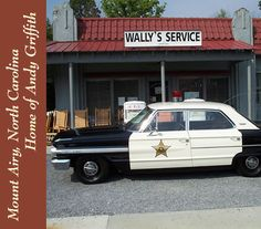 Mount Airy, NC . . . home of Andy Griffith and the basis for the fictional town of Mayberry.