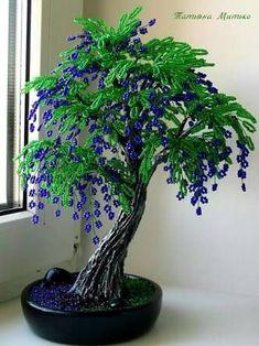 Resultado de imagen para bonsai de chaquira paso a paso #Bonsaialambre