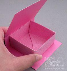 Geschenkverpackungen: Flap box - TUTORIAL (quadratisch) - Origami-Box, Deckel wird extra gefertig und die Box hineingeklebt