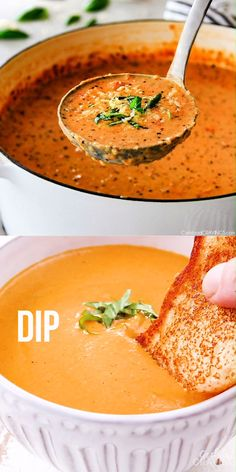 This Tomato Basil Soup recipe is our family favorite! Its super easy without any chopping! bursting with flavor and I love the addition of Parmesan! (stovetop or crockpot) soup healthy recipes rezepte soup soup Best Soup Recipes, Fall Recipes, Healthy Dinner Recipes, Vegetarian Recipes, Favorite Recipes, Healthy Soup, Blended Soup Recipes, Simple Soup Recipes, Corn Soup Recipes