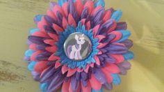 My litte pony flower clip