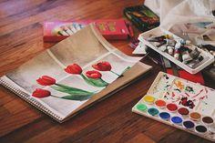 Imagem de flowers, art, and paint