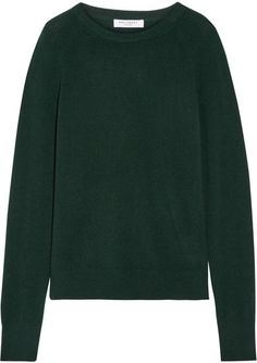 A seasonal alternative to black, Equipment updates its classic 'Sloane' sweater in a rich emerald hue. This cashmere design has a relaxed fit and a soft mid-weight handle. Wear it with cropped pants and glossy boots. J Brand Jeans, Top Designer Brands, Cropped Pants, Cashmere Sweaters, Fashion Online, Knitwear, Clothes For Women, My Style, How To Wear