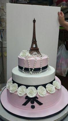 Paris Birthday Cakes, Parisian Birthday Party, Paris Themed Cakes, 12th Birthday Cake, Bithday Cake, Parisian Party, Paris Cakes, Birthday Cake Girls, Sweet 15 Cakes