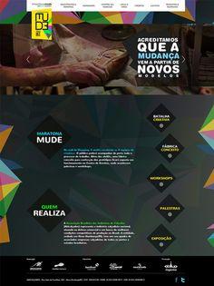 Gampi cria hotsite site para a Maratona MUDE. #Web #Design