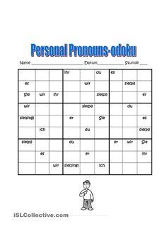 Personalpronomen Sudoku