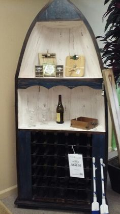 Awesome small boat wine rack at town and country, pickwick lake