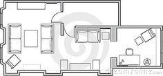 Architecture floor plan Architecture Blueprints, Architecture Plan, Apartment Decorating For Couples, Studio Layout, Apartment Entryway, Entry Way Design, Cool Apartments, Living Room Colors, Floor Plans