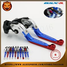 (41.10$)  Buy here - http://aiusz.worlditems.win/all/product.php?id=32759449847 -  For SUZUKI GSXR 600/750 GSXR600 GSXR750 96-03, GSXR1000 01-04 Motorcycle Adjustable Folding Extendable Brake Clutch Lever Blue