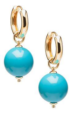 'Beyond' Turquoise Bead Earrings