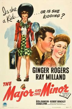 The Major And The Minor (1942) Academy Award winners Ginger Rogers and Ray Milland sparkle in this debut comedy from Academy Award-winning writer-director Billy Wilder. A frustrated city girl (Rogers)