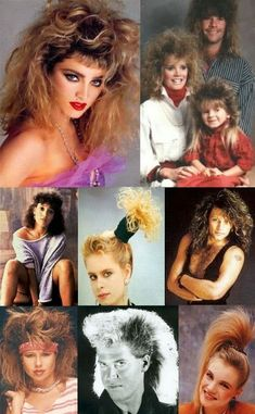 Teased hair, fashion, party fashion, hair shows, style. Eighties Hair, 1980s Hair, 80s Halloween Costumes, 80s Costume, 80s Party Outfits, 80s Outfit, 80s Trends, Madonna 80s, Childhood