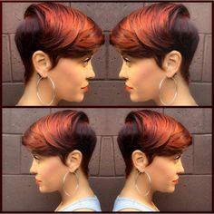 Burnt Orange Short Hairstyles for Black Women