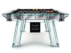 Filotto Crystal Pool Table by Adriano Design for Calma e Gesso