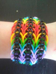 #Loom regenboog #armband, mijn eigen ontwerp.  #Loom rainbow #bracelet. My own design