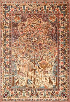 Beautiful Antique Persian Kerman Rug by Master Aboul Ghasem Kermani 49006