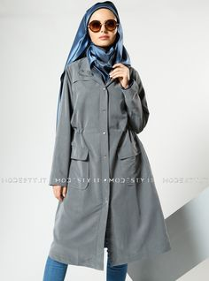islamische kleidung fuer frauen mymodestystyle.com besuchen sie unsere shop #hijab #abayas #tuekische kleider #abendleider #islamischekleidung  Grippered Topcoat - Anthracite - Refka - <p>Fabric Info:</p> <p>70% Modal</p> <p>30% Polyester</p> <br> <p>Unlined</p> <p>Weight: 0.416 kg</p> <p>Measures of 38 size:</p> <p>Height: 109 cm</p> <p>Bust: 104 cm</p> <p>Waist: 102 cm</p> <p>Hips: 112 cm</p> - SKU: 198371. Buy now at http://muslimas-shop.com/grippered-topcoat-anthracite-refka.html