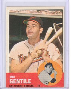 1963 Topps 260 Jim Gentile Baltimore Orioles EXMT | eBay