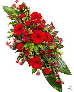 Funeral Floral Arrangements, Church Flower Arrangements, Church Flowers, Funeral Bouquet, Funeral Flowers, Types Of Flower Arrangement, Funeral Caskets, Casket Flowers, Flowers London