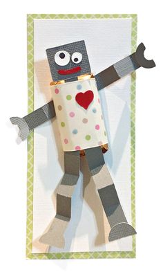 DIY Classroom Valentines! Join us as we share a new easy-to-make family-friendly Valentine project each day. The series begins with this Love Robot. He's got candy for your little sweethearts!