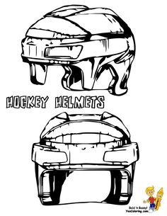 f1ac5bd5 Print Out This Free Ice Hockey Coloring Picture! Hockey Helmets!