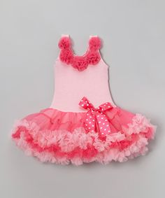 Look at this #zulilyfind! Pink Bow Flower Dress - Infant, Toddler & Girls by Wenchoice #zulilyfinds