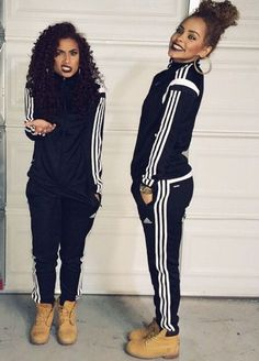 Adidas & Timbs matching outfit More