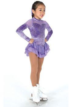 NEW COMPETITION FIGURE SKATING DRESS Jerrys Lavender Mist 10-12 CL