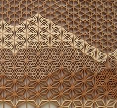 Australian working in traditional Japanese form of making paper doors and panels, but he takes it to another level!