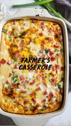 Farmers Casserole, Tamale Casserole, Breakfast Casserole, Casserole Dishes, Brunch Recipes, Yummy Recipes, Crockpot Recipes, Breakfast Recipes, Dinner Recipes