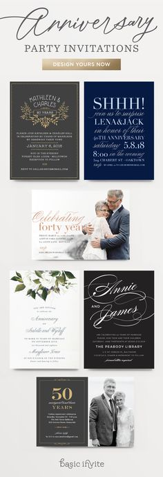 Finding the right wedding anniversary invitation wording wedding basic invite has anniversary invitations that are perfect no matter how many years you have been stopboris Image collections