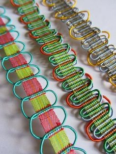Elizabeth Ashdown ribbons - learn from Elizabeth herself at her masterclass Big Cat Textiles in July Inkle Weaving, Inkle Loom, Tablet Weaving, Hand Weaving, Weaving Textiles, Textile Fabrics, Textile Patterns, Textiles Techniques, Weaving Techniques
