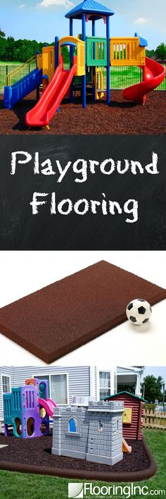All your Playground Flooring options in one place with the pros & cons of each option.