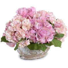 New Growth Designs Pink Hydrangea Faux Flower Arrangement (24.360 RUB) ❤ liked on Polyvore featuring home, home decor, floral decor, flowers, backgrounds, fillers, decor, plants, pink flower arrangement and fabric flowers