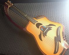 Virtuoso Custom Telesis Bespoke 20 String Electro-Acoustic Harp Guitar (Love this - wish there was a better picture) --- https://www.pinterest.com/lardyfatboy/