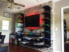 42 Fantastic Game Room Design Ideas is part of Video game room design - Who says that a room is merely a room It is our haven It is probably the most comfortable place […] Design Lounge, Game Room Design, Family Room Design, Boys Room Design, Boys Game Room, Cool Boys Room, Cool Rooms, Deco Gamer, Garage Game Rooms