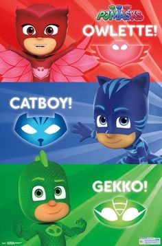 Cool PJ Masks Wall Poster - Great addition to party decorations.